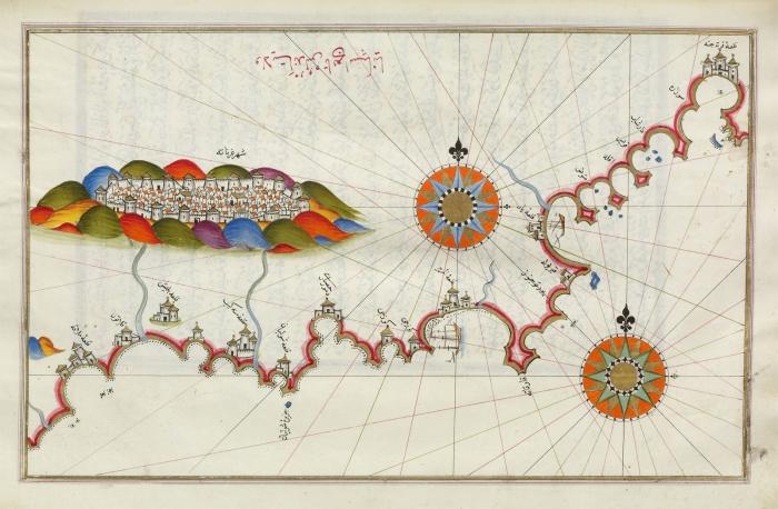 Изображение эмирата на карте Пири-реиса