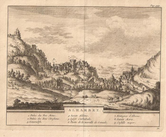 Альгамбра на изображении XIX века