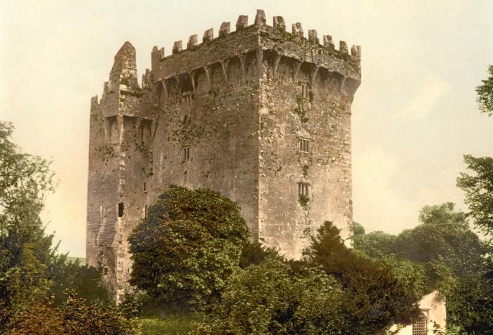 Замок Бларни на фотографии конца XIX века