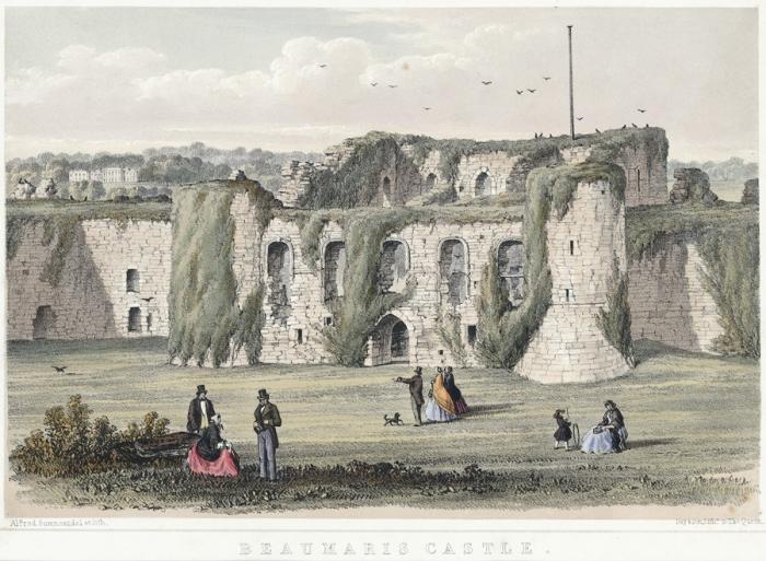 Живописные руины Бомариса в XIX веке