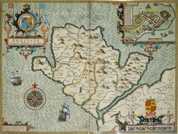 Общая карта острова Англси 1610 года