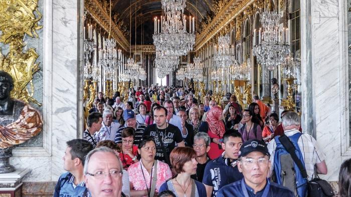 Туристы в Версале