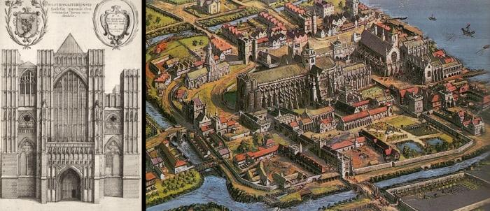 Исторический вид Вестминстерского аббатства
