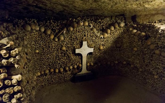 Так выглядит самая интересная часть катакомб Парижа