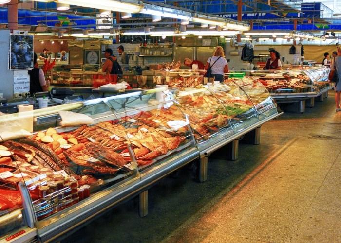 Рыбный рынок в Латвии