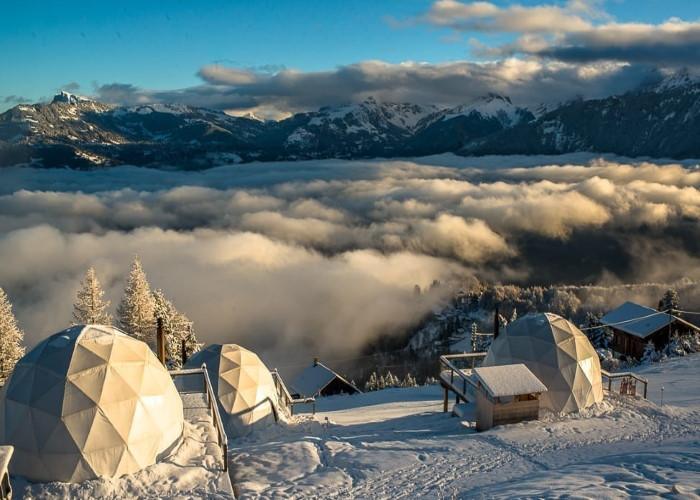 Whitepod - это экологичный отель в Швейцарии